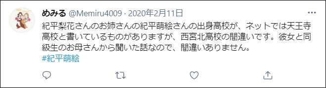 紀平萌絵 出身高校